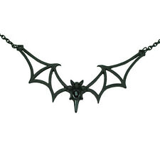 Necklace Collier Poizen Industries Bat Chauve-souris Vampire Gothic Gothique