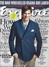 ESQUIRE MAGAZINE Ashton Kutcher Cooking school Hurricane Sandy Navy SEAL Team 6