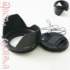 58mm 58 mm Plastic Crown Petal Flower Lens Hood + Centre-Pinch Snap-on lens cap