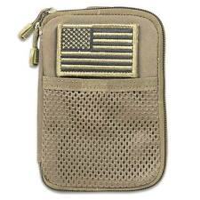 CONDOR MOLLE Modular Passport ID Field Wallet Pouch ma16 COYOTE TAN w/Flag patch