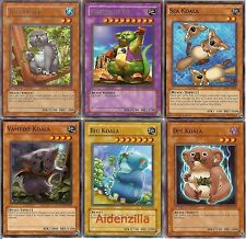 Yugioh Koala Deck - 40 Cards + 3 Extra - Master of Oz - Cute Critters!