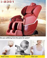 Brand New Massage Chair 8351 Zero-G Human Touch ShiatsuHeating Foot Roller Red