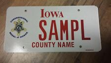 2000s IOWA ,Congressional Medal Of Honor, Sample License Plate