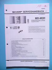 Service Manual-Anleitung Sharp MD-M3H ,ORIGINAL