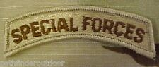 Special Forces Tab US Army DCU Desert Patch w/ Hook Fastener Backing Free Ship!