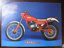BROCHURE CATALOGUE 1979 MOTO FANTIC TRIAL 200