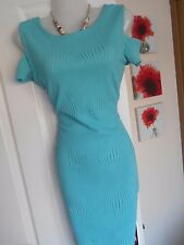 **STUNNING** JANE NORMAN SIZE 12 TURQUOISE BODYCON WIGGLE DRESS *FAST POSTAGE*