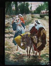 Glass Magic Lantern Slide THE RETURN FROM EGYPT C1900 CHRISTIAN RELIGION BIBLE