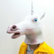 New Hot Great Unicorn Latex Cosplay Animal Halloween Costume Mask Theater Prop