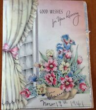 """Vintage 1940's """"GOOD WISHES for Your Recovery"""" Greeting Card"""