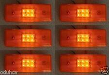 6x Face Arrière ORANGE Marqueur 6 LEDs Phares 12V Camion-remorque Châssis