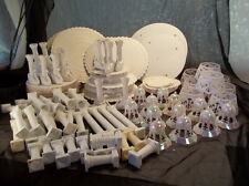 Vintage cake decorating supplies Wilton plates swan pillars bells bakery wedding