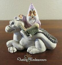 World of Krystonia Graffyn on Grumblypeg Grunch Wizard Dragon Crystal Figurine