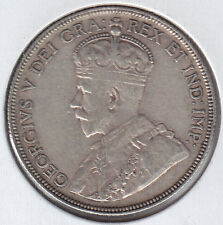 1936 Key Date Fifty Cents - Silver Canadian Coin
