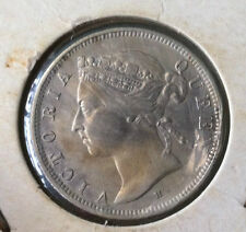 1900H Straits Settlements 20 cents Silver Coin very nice details ! Ef/Au grade