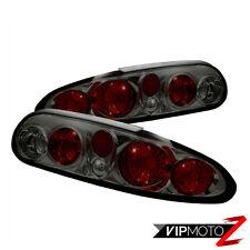 Chevy Camaro 93-02 Smoke {SLEEK DESIGN} Tail Lights Lamps Rear Brake Pair LH RH