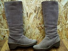 MORLANDS Lambswool Lined Suede Winter Women's Knee Boots Size UK 6.5 RRP £175