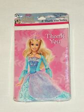 NEW  ~BARBIE THE ISLAND PRINCESS   8-THANK YOU NOTES  HALLMARK  PARTY SUPPLIES