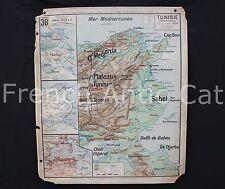 Rare carte scolaire Lablache Edition 2 TUNISIE 38 politique avant 1910 Mezières