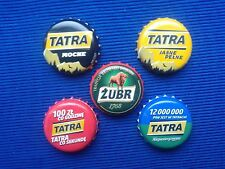 Poland Bottle Caps of beer 5 pcs. - Tatra - Kapsle z piwa 5 szt.