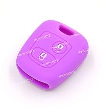 Purple Silicone Key Case Cover For Citroen C1 C2 C3 Saxo Xsara Picasso Berlingo