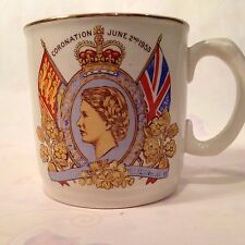 QUEEN ELIZABETH II CORONATION JUNE 2ND,1953 COMMEMORATIVE MUG CUP~ADAMS EST 1657