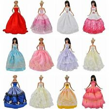 US new Handmade Clothes Dresses Grows Outfit for Barbie Doll (5pcs pack random)
