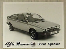 ALFA ROMEO SPRINT SPECIALE Car Black & White Press Photograph 1980s