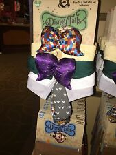 disney tails pet accessory bow collar set mickey haunted mansion size xs/s new