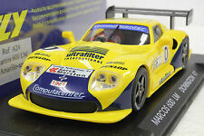 FLY A24 MARCOS LM600 DONNINGTON 1997 NEW 1/32 SLOT CAR IN DISPLAY CASE