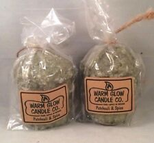 Warm Glow Candle Co. 5 oz. Hand-Dipped PATCHOULI & SPICE Candles, Set of 2