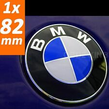 BMW 82mm blue white emblem hood or trunk e46 e60 e61 e39 e91 e92 e93 e70 coupe