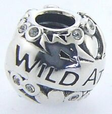 2025-1316 CHAMILIA STERLING SILVER WILD AT HEART SWAROVSKI CHARM NEW & POUCH