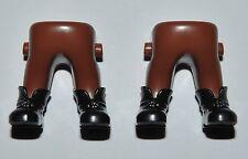 16601 Piernas marrones botas ENANO 2u playmobil,leg,boot,dwarf,anão,nano