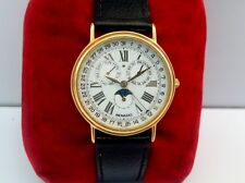VINTAGE MOVADO TRIPLE DATE CALENDER MOONPHASE 87-03-862 GOLD PLATED MEN'S WATCH
