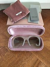 Miu Miu $365 Cut Off Plastic Frame Sunglasses ! NIB ! Authentic !!