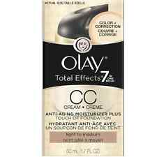 OLAY Total Effects7 In 1 Anti-Aging Moisturizer Foundation Light Medium1.7oz 2pk