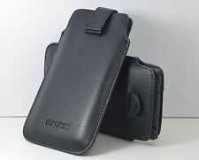 Premium Slip In Pull Up Hand Pouch Case wid Strap Micromax Canvas Superfone A100