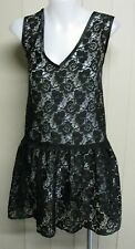 BNWT Asos Black Sheer Lace Dress Size 14