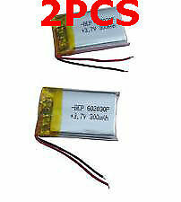 2PCS 3.7v 300mah Polymer Li battery Lipo for bluetooth headset MP3 MP4