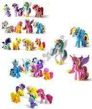 12PCS/LOT My Little Pony PVC Figures Spike Celestia Rainbow Dash Pony Cake Top