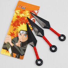 Set of 3 Red Throwing Knives Kunai Naruto Ninja Cosplay new