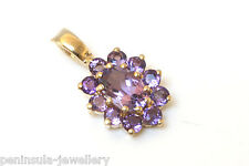 9ct Gold Amethyst Pendant no chain Gift Boxed Made in UK