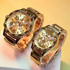 NEW NIXON 51-30 + 42-20 Chrono ALL ROSE GOLD His & Hers Watch Set 5130 SALE