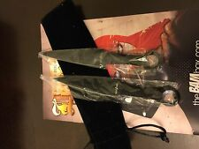 Set of 2 Letter Openers w/Pouch Collectors Replicas of Throwing Daggers BAM! Box