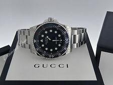 NEW Gucci Dive Quartz XL Bracelet Swiss Men's Watch YA136208