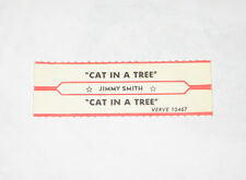 x1 Jimmy Smith Jukebox Title Strip Cat In A Tree VERVE #10467