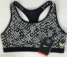 Nike Pro Dri-Fit Women's Sports Training Bra Black White Print 658370 Size XS