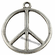 15Pcs Tibetan Silver Peace Charms Pendants Jewelry Findings Crafts 27x23mm
