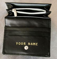 LADY'S LEATHER PURSE. Personalised - any name you want. QUALITY ITEM free UK P&P